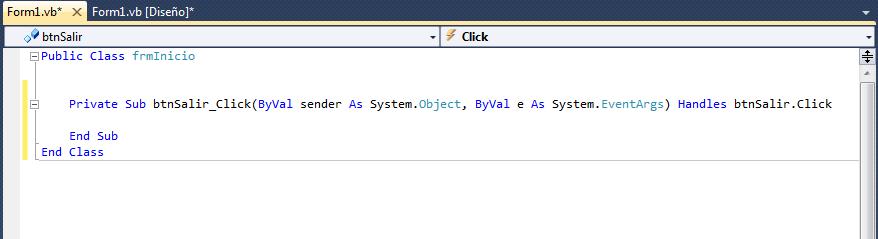 código del evento