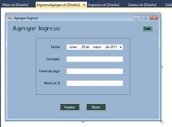 crear nuevos formularios