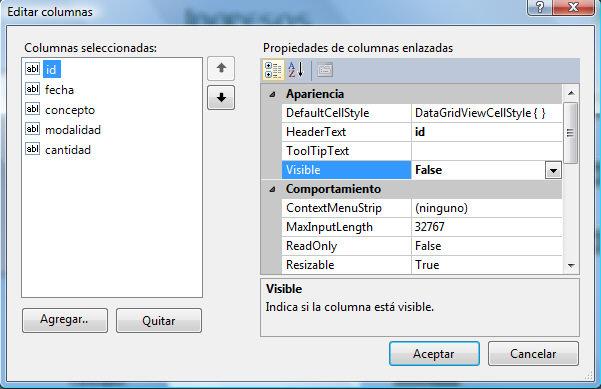 editar columnas