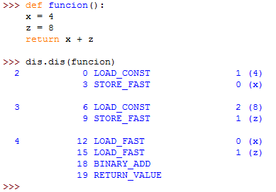 análisis de bytecodes en python