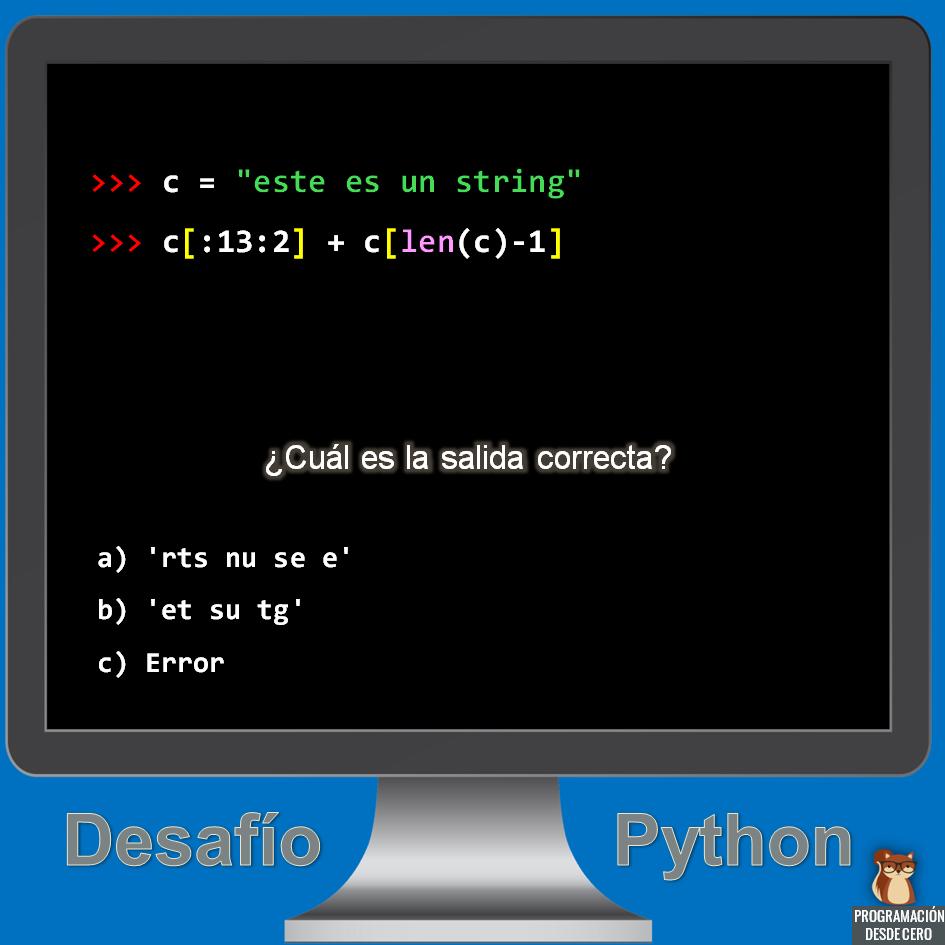 desafío Python número 1