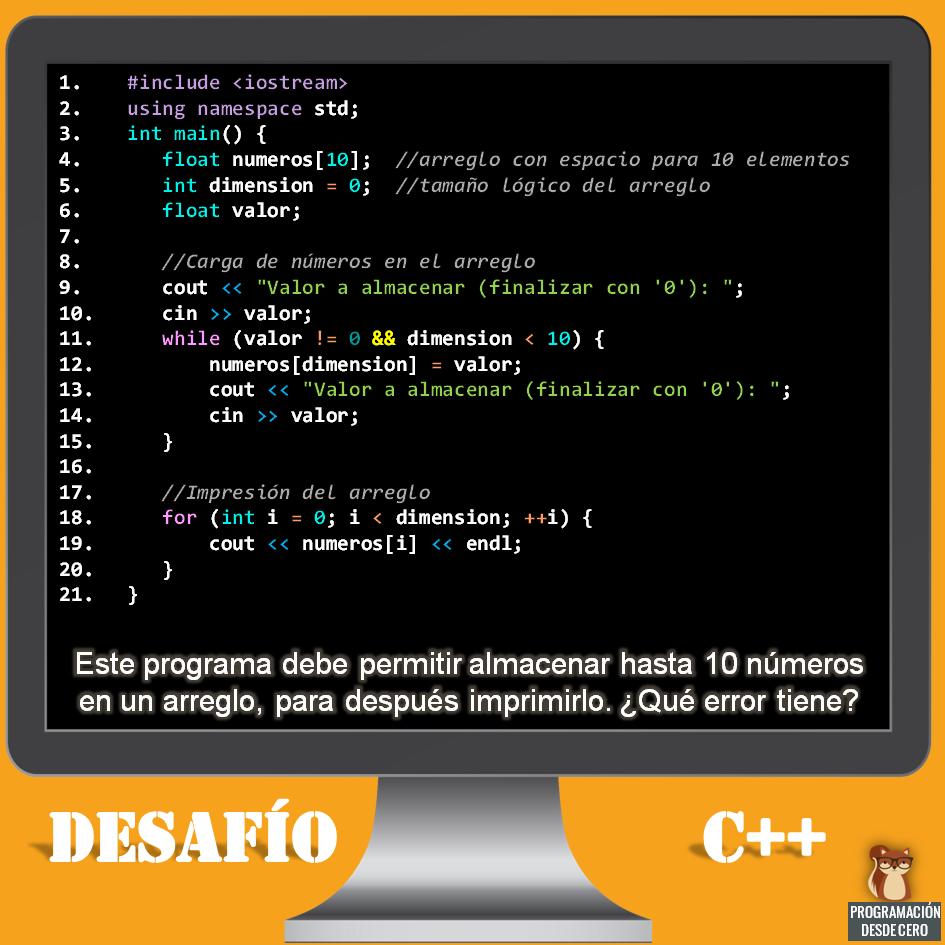 Desafío C++ número 1
