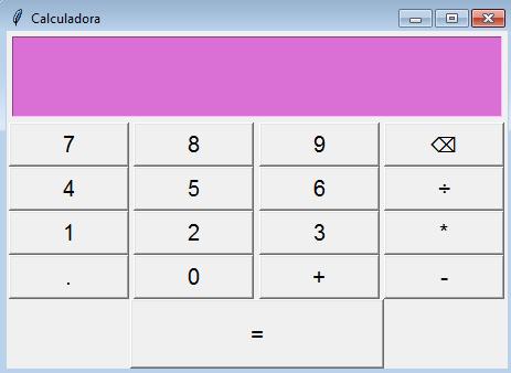 interfaz de la calculadora