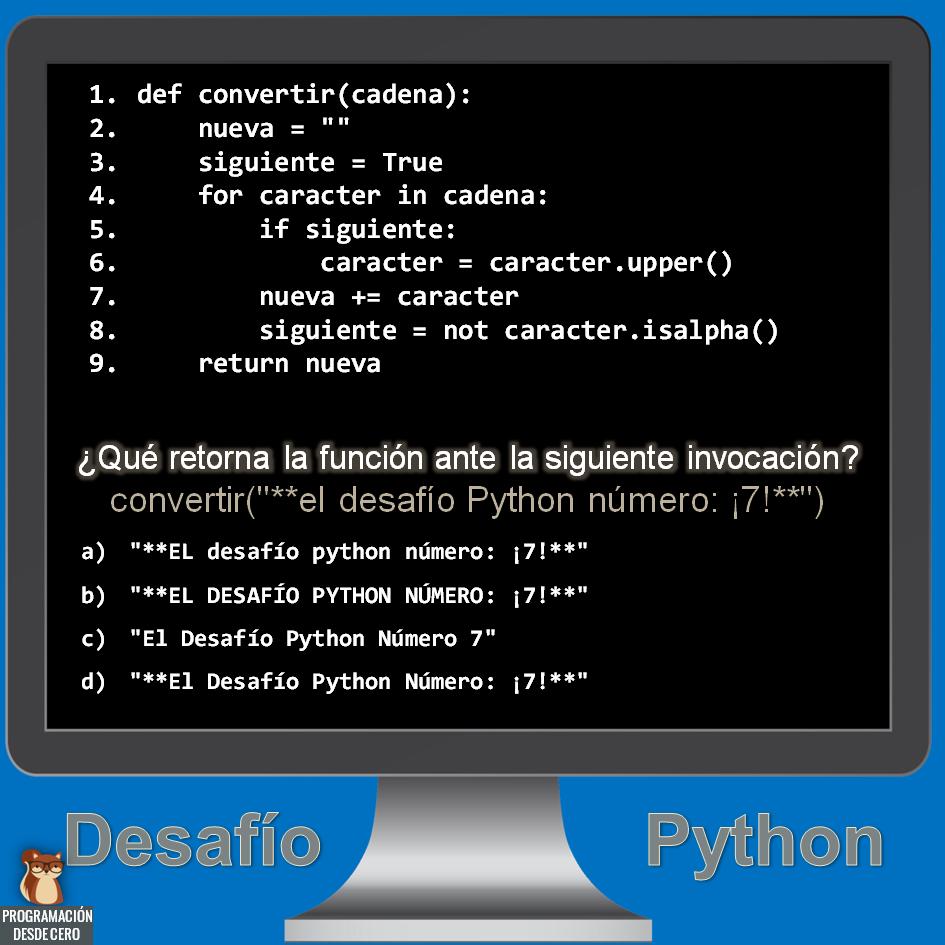 desafío Python número 7