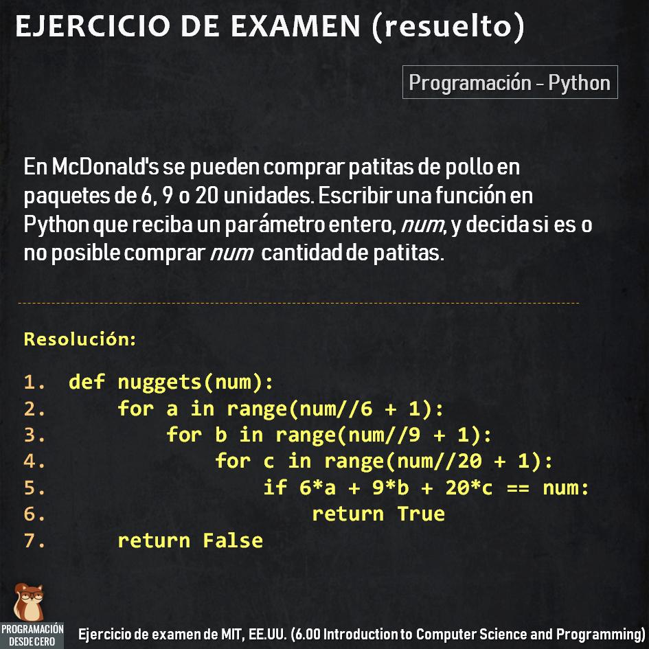 Ejercicio resuelto con Python