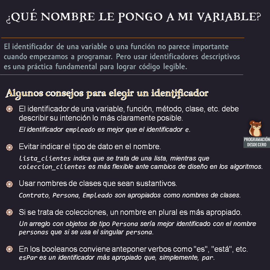 nombrando variables
