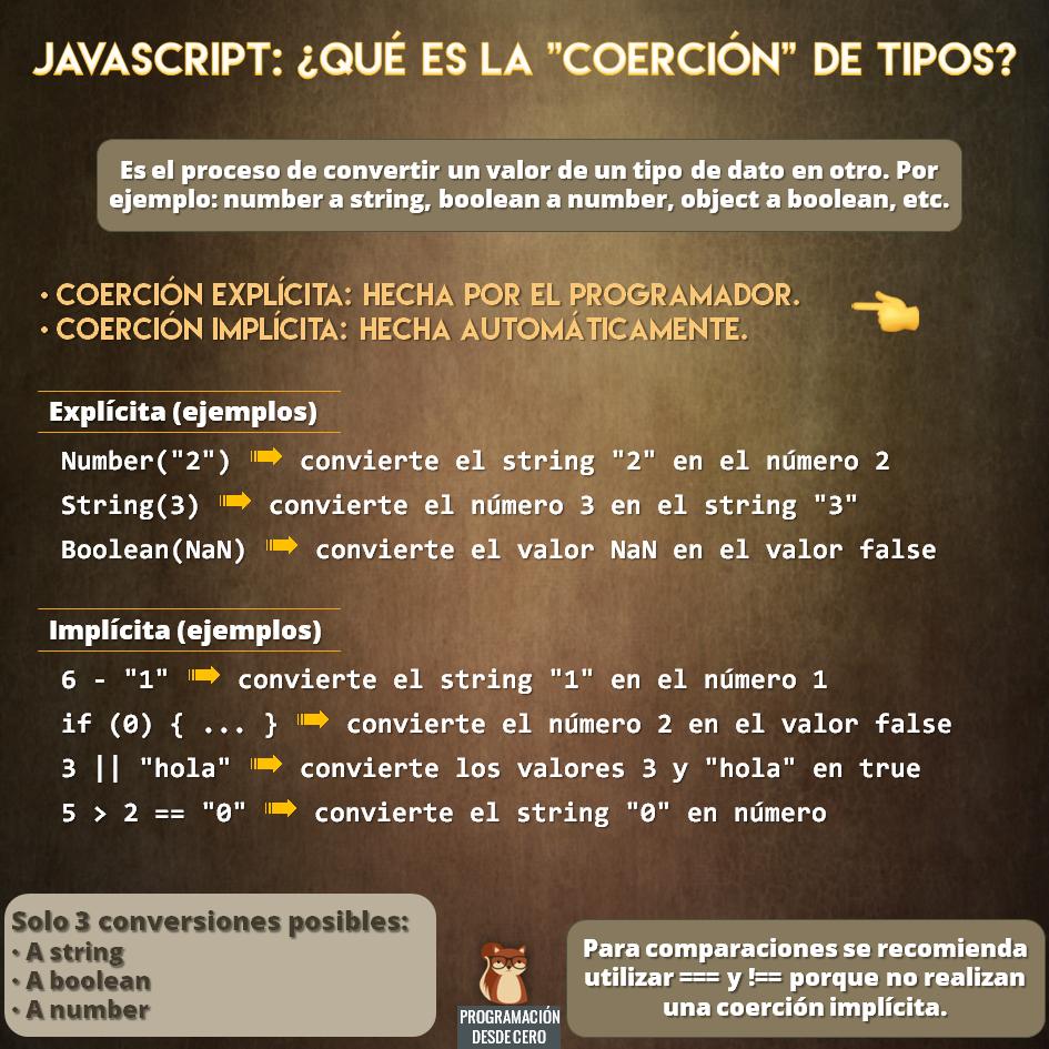 coerciones javascript