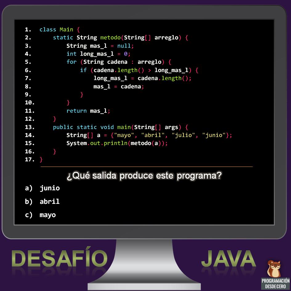 Desafío Java número 2