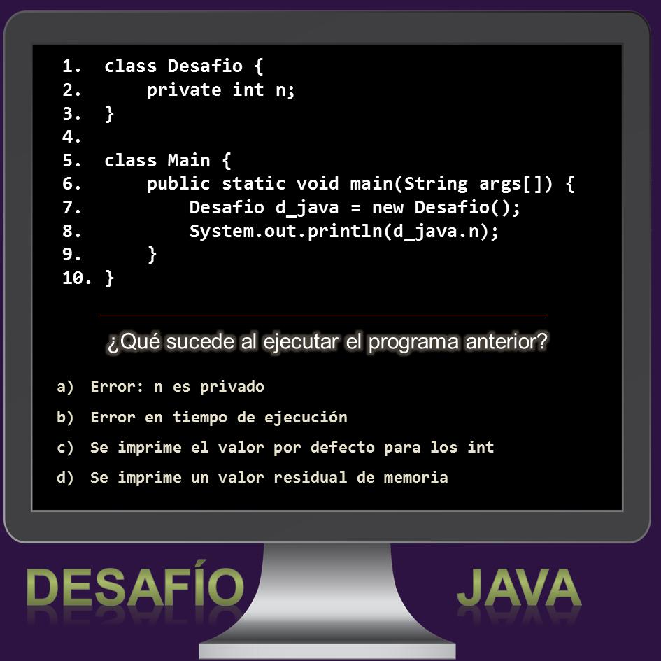 Desafío Java número 4