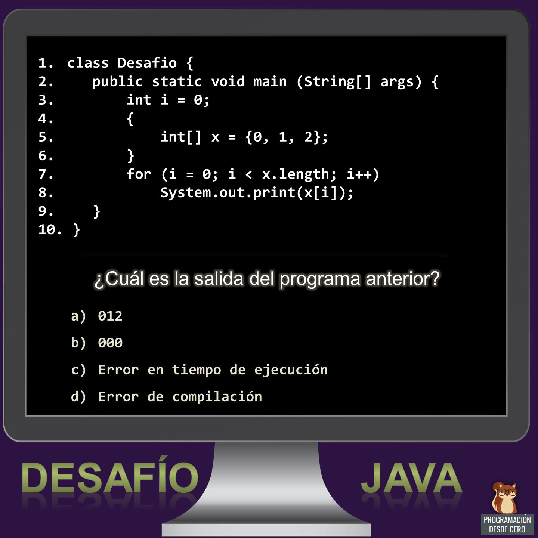Desafío Java número 5